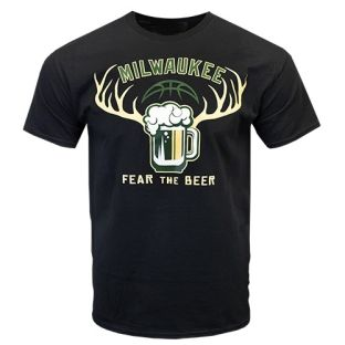 Milwaukee Fear The Beer Center T-shirt