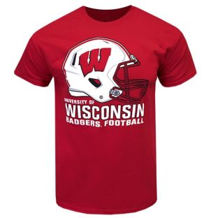 Wisconsin Badgers Football Red Dynamic T-Shirt