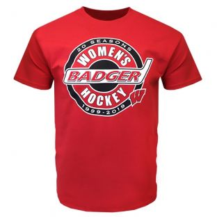 Wisconsin Badgers Women's Hockey Red Seasons T-Shirt