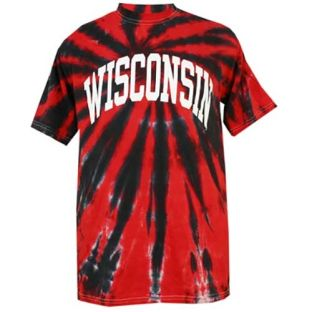 Wisconsin Badgers Arch Tie-Dye T-Shirt