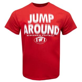 Wisconsin Badgers Football Red Original Jump Around T-Shirt
