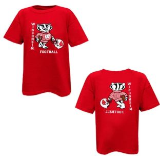 Wisconsin Badgers Toddler Football 2 Sided T-Shirt
