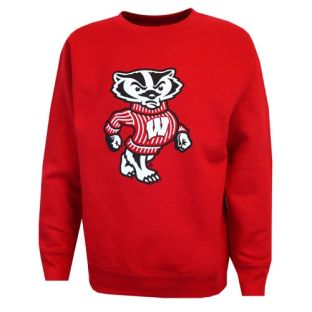 Wisconsin Badgers Toddler Bucky Solo Crew Neck Sweatshirt