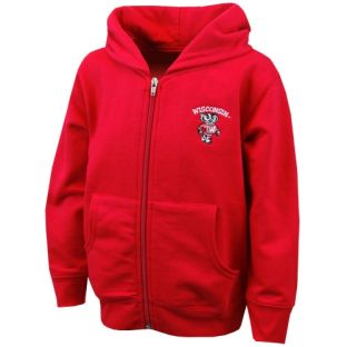 Wisconsin Badgers Toddler Tumble Full Zip Hooded Sweatshirt