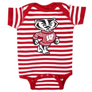 Wisconsin Badgers Infant Stripe Bucky Onesie