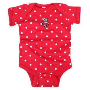Wisconsin Badgers Infant Polka Dot Onesie