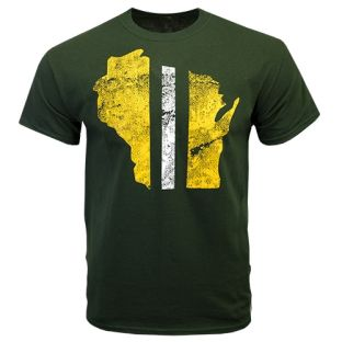 Wisconsin Green GB State Stripe T-Shirt