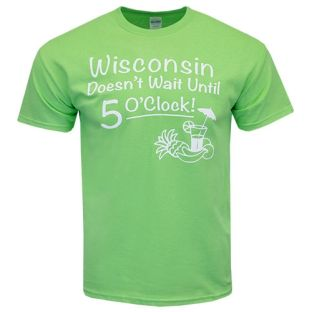 Wisconsin Lime Script 5 O'Clock T-Shirt