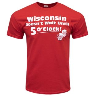 Wisconsin Red Bold 5 O'Clock T-Shirt
