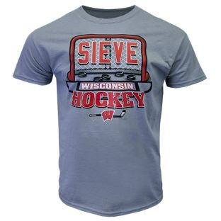 Wisconsin Badgers Hockey Gravel Cage Sieve T-Shirt
