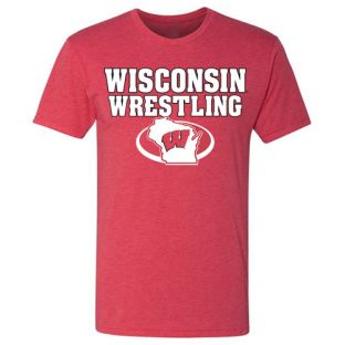 Wisconsin Badgers 2020 NCAA Wrestling Event Triblend T-Shirt