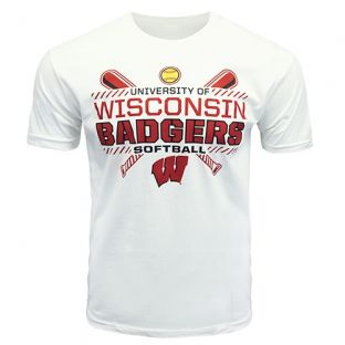 Wisconsin Badgers Softball White SC National T-Shirt