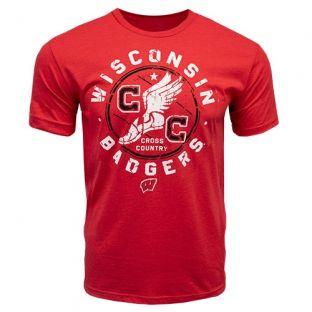 Wisconsin Badgers Cross Country Red Metric T-Shirt
