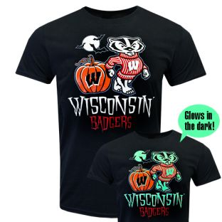 Wisconsin Badgers Black 2019 Halloween Bucky Great Pumpkin T-Shirt