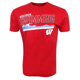 Wisconsin Badgers Swimming Waves T-Shirt