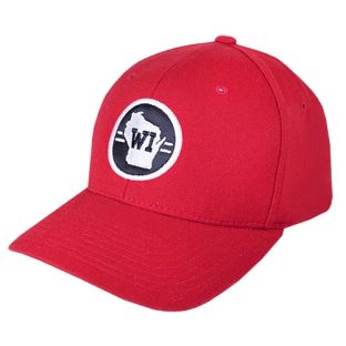 Wisconsin Red Home State Flexfit Hat