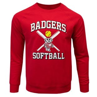 Wisconsin Badgers Softball Red Home Run Crew