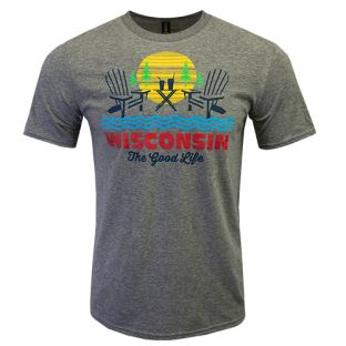Wisconsin Heather Graphite The Good Life T-Shirt