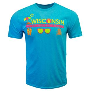 Wisconsin Blue Happy Place T-Shirt
