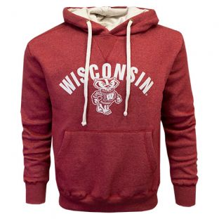 Wisconsin Badgers Red Natural Bucky Afton Hooded Sweatshirt