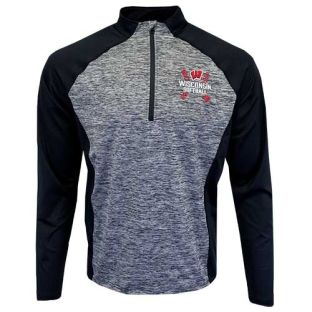 Wisconsin Badgers Softball Black Calhoun 1/4 Zip