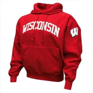 Wisconsin Arch W Tackle Twill Hooded Sweatshirt