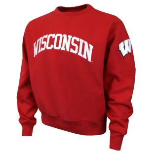 Wisconsin Badgers Tackle Twill Crew Neck Sweatshirt