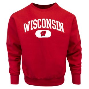 Wisconsin Badgers Arch Disc Tackle Twill Crewneck Sweatshirt