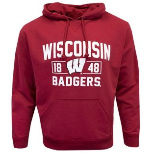 Wisconsin Badgers Red Blue Chip Hooded Sweatshirt