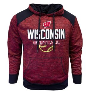 Wisconsin Badgers Softball Red Ace Nordic Hooded Sweatshirt