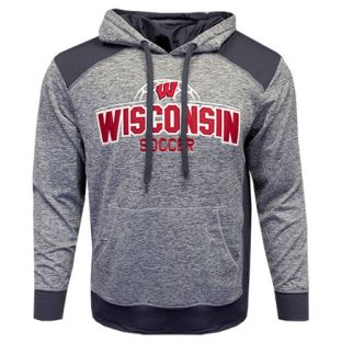 Wisconsin Badgers Soccer Gray Kicker Nordic Hooded Sweatshirt