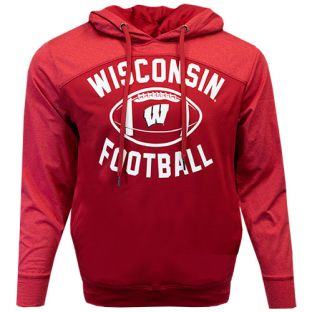 Wisconsin Badgers Red Football Legend Polor Hooded Sweatshirt