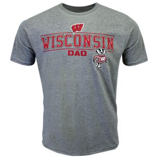 Wisconsin Badgers Gray Dad Proud T-Shirt