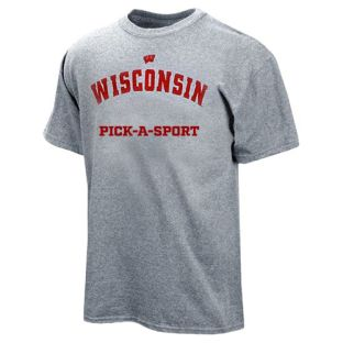 Wisconsin Badgers Grey Sport T-Shirt