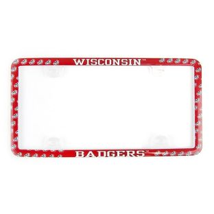 Wisconsin Badgers Plastic License Plate Frame