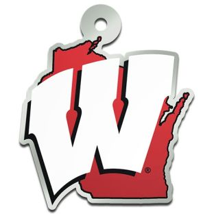 Wisconsin Badgers State Acrylic Keychain
