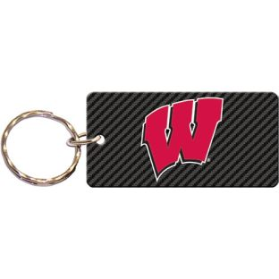 Wisconsin Badgers Carbon Acrylic Key Tag