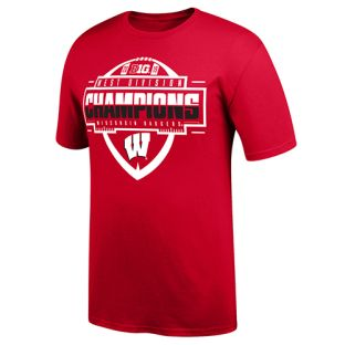 Wisconsin Badgers Football Red 2019 Big Ten West Division Champions T-Shirt