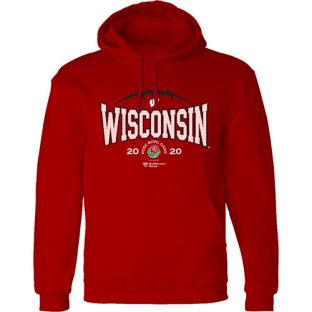 Wisconsin Badgers Red 2020 Rose Bowl Athletic Hooded Sweatshirt