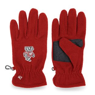 Wisconsin Badgers '47 Brand Red Bucky Logo Fleece Glove