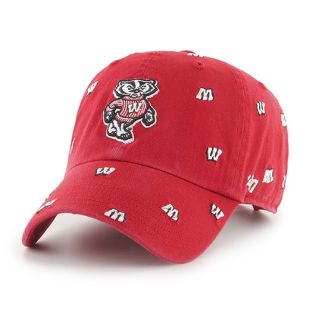Wisconsin Badgers '47 Brand Red Women's Confetti Adjustable Cap