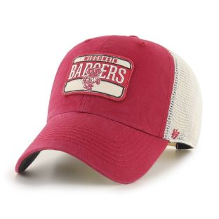 Wisconsin Badgers '47 Brand Red Retro Fluid Adjustable Cap