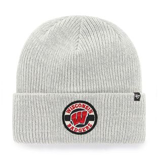 Wisconsin Badgers '47 Brand Gray Plainfield Cuffed Knit