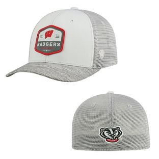 Wisconsin Badgers Top of the World Gray Hyjak One-Fit Hat