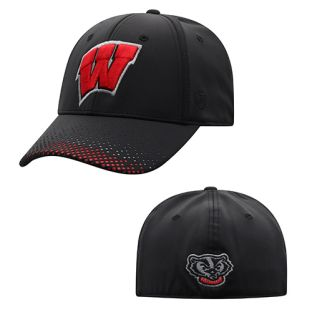 Wisconsin Badgers Top of the World Black Lumens 1 Fit Cap
