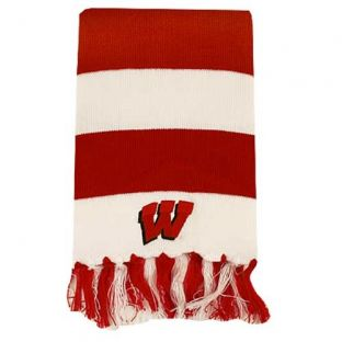 Wisconsin Badgers Rugby Stripe Scarf
