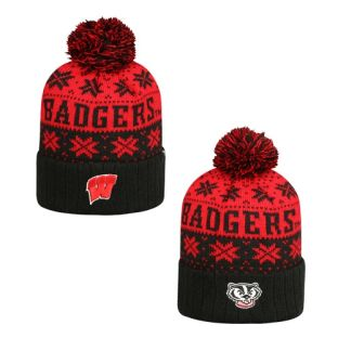 Wisconsin Badgers Subarctic Pom Knit Hat