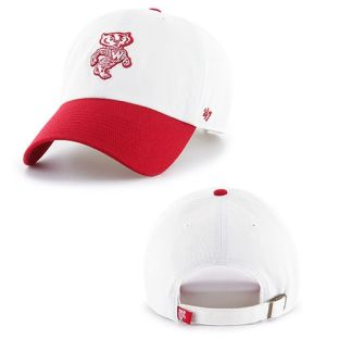Wisconsin Badgers '47 Brand White Retro Two Tone Clean Up Adjustable Hat