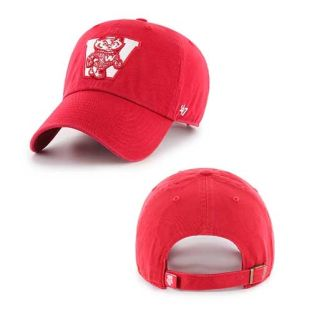 Wisconsin Badgers '47 Brand Retro W Bucky Clean Up Adjustable Hat