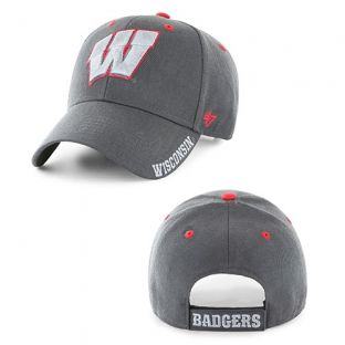 Wisconsin Badgers '47 Brand Charcoal W Defrost Adjustable Hat